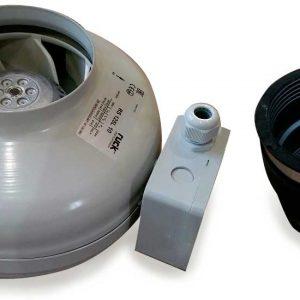 radon fan with one collar